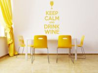 Keep Calm and Drink Wine Wall Art Quote Wall stickers Wall ...